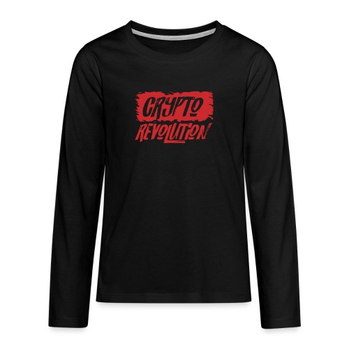 Crypto Revolution - Teenagers' Premium Longsleeve Shirt