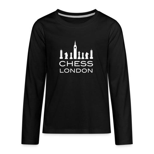 Schach London Weltmeister Schachfigur Geschenk - Teenager Premium Langarmshirt