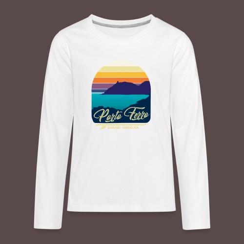 Porto Ferro - Vintage travel sunset - Maglietta Premium a manica lunga per teenager