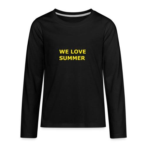 we love summer - Teenager Premium Langarmshirt