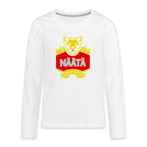 Näätä - Teinien premium pitkähihainen t-paita