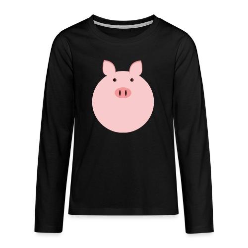 Schweinchen Fred - Teenager Premium Langarmshirt