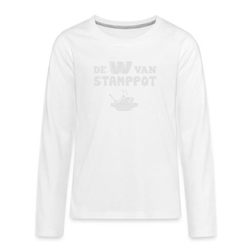 De W van Stamppot - Teenager Premium shirt met lange mouwen