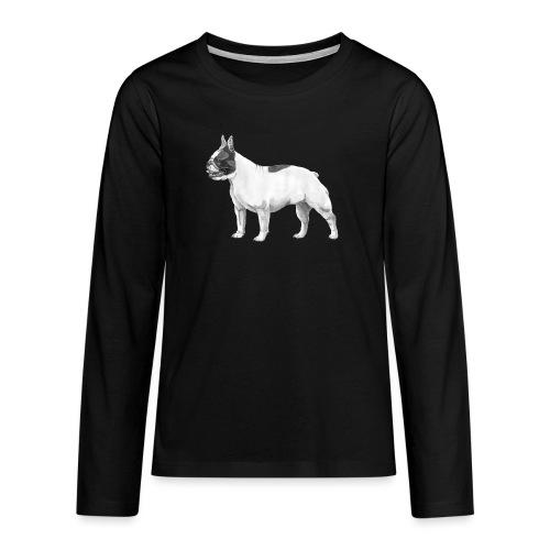 French Bulldog - Teenager premium T-shirt med lange ærmer