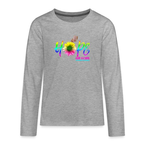 Hope For A Cure Alzheimer Awareness - Teenagers' Premium Longsleeve Shirt
