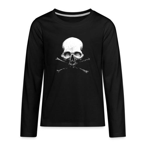 Old Skull - Maglietta Premium a manica lunga per teenager