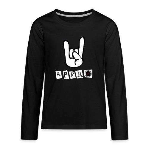 apero t shirt - T-shirt manches longues Premium Ado