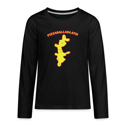 Pizzasalladland - Långärmad premium T-shirt tonåring