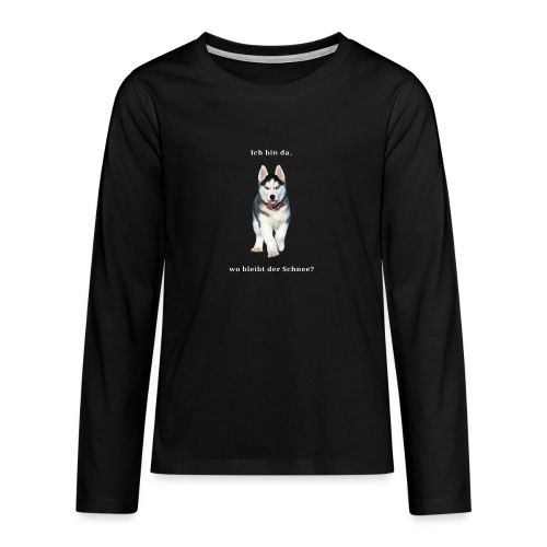 Husky Welpen mit bezaubernden Augen - Teenager Premium Langarmshirt