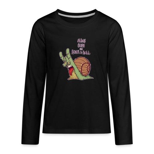 ROCK SNAIL - Koszulka Premium z długim rękawem dla nastolatków
