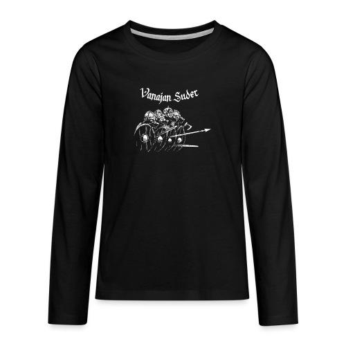 Kilpimuuri B - Teinien premium pitkähihainen t-paita