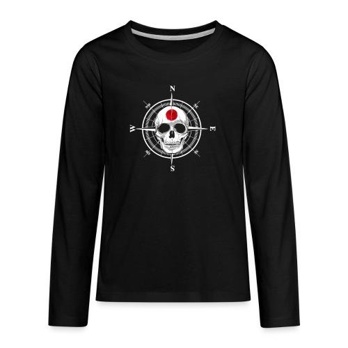 Skull Japanese - Teenagers' Premium Longsleeve Shirt