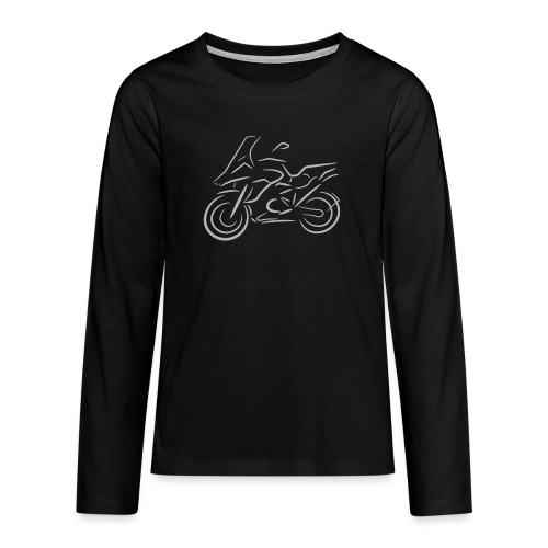 Motorrad Fahrer, Bike, Biker, 1200 - Teenager Premium Langarmshirt