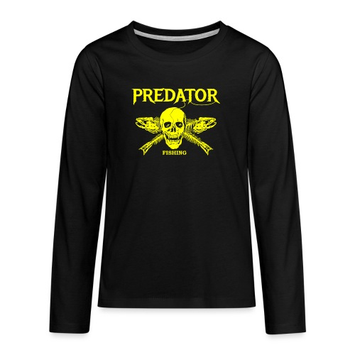 Predator fishing yellow - Teenager Premium Langarmshirt