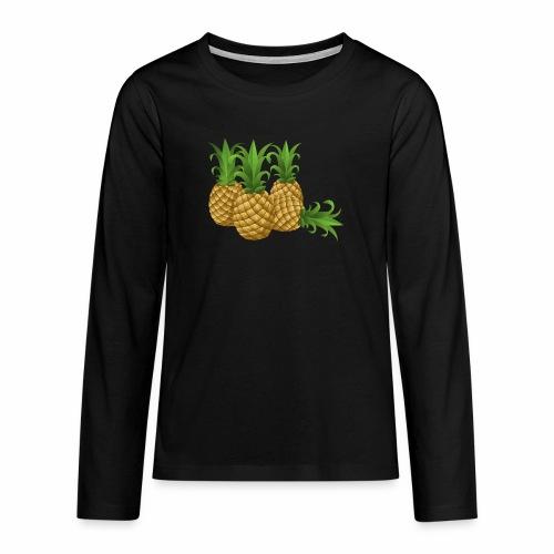 Ananas - Teenager Premium Langarmshirt