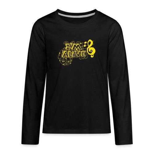 i m alive geel png - Teenager Premium shirt met lange mouwen