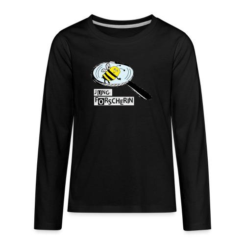 Jungforscherin mit Biene - Teenager Premium Langarmshirt