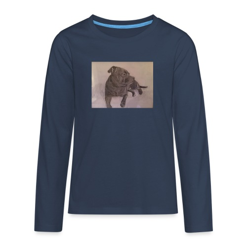 My dog - Långärmad premium T-shirt tonåring
