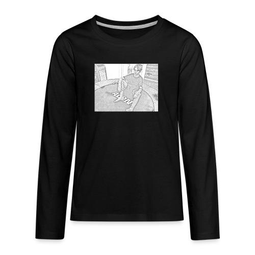 cartooned trampboy - Långärmad premium T-shirt tonåring