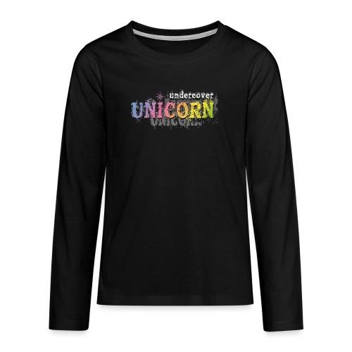 Undercover Unicorn - T-shirt manches longues Premium Ado