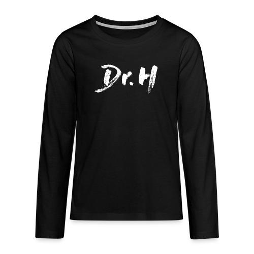 Sweat femme col bateau Dr. H - T-shirt manches longues Premium Ado