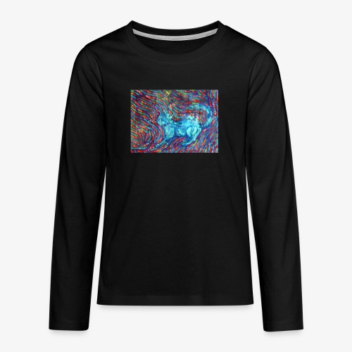 Kotek - Koszulka Premium z długim rękawem dla nastolatków