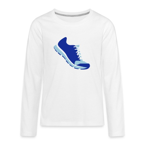 Laufschuh - Teenager Premium Langarmshirt