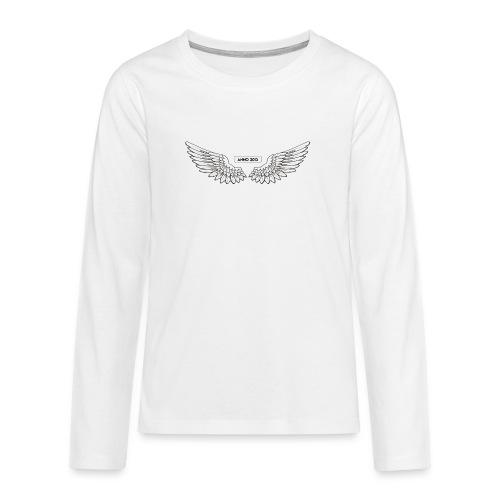 T SHIRT logo wit png png - Teenager Premium shirt met lange mouwen