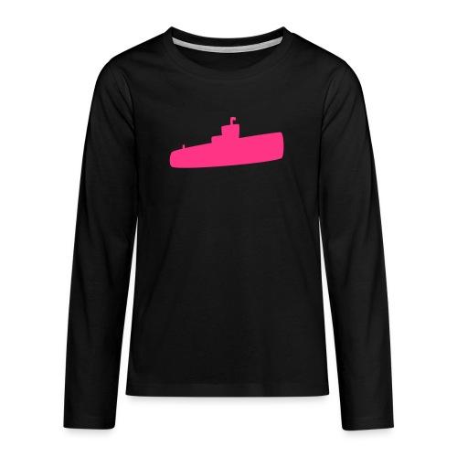 Rosa U-Boot - Teenager Premium Langarmshirt