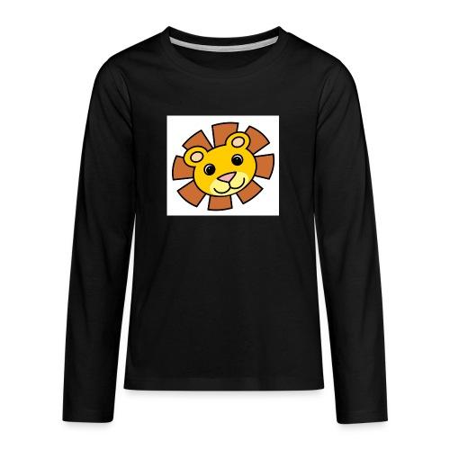 funimals_lejon_f--rg_-2- - Långärmad premium T-shirt tonåring