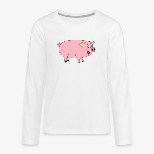 Gris - Premium langermet T-skjorte for tenåringer