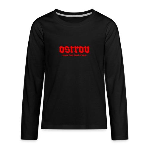 ostrov red 2 - Koszulka Premium z długim rękawem dla nastolatków