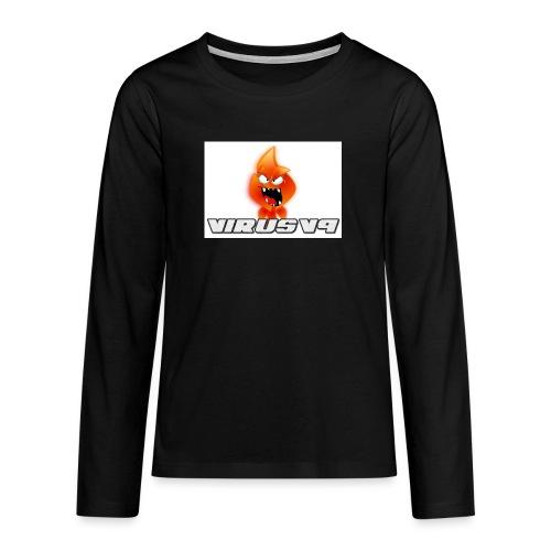 Virusv9 Weiss - Teenager Premium Langarmshirt