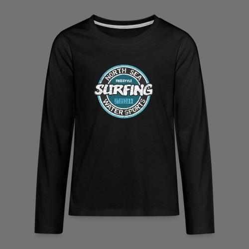 North Sea Surfing (oldstyle) - Teenagers' Premium Longsleeve Shirt
