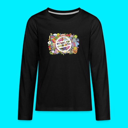 maglia logo doodle - Maglietta Premium a manica lunga per teenager