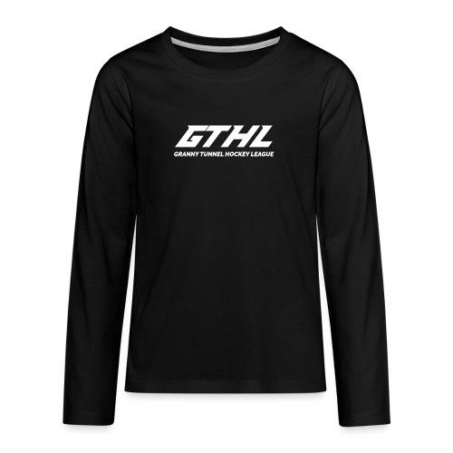 GTHL White - Teinien premium pitkähihainen t-paita
