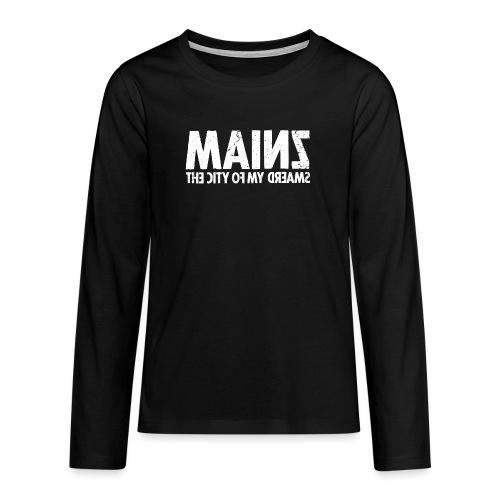 Mainz (white oldstyle) - Teenager Premium Langarmshirt