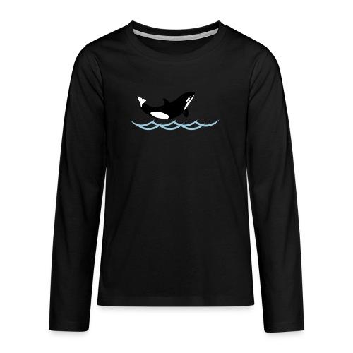 Lil' Orka_kids - Teenager Premium Langarmshirt