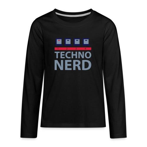Techno Nerd - Teenagers' Premium Longsleeve Shirt