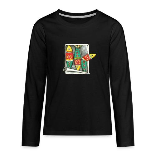 Les sardines du Portugal - T-shirt manches longues Premium Ado
