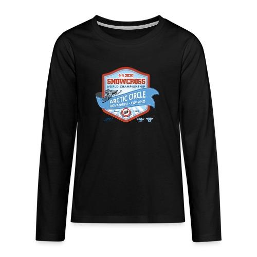 MM Snowcross 2020 virallinen fanituote - Teinien premium pitkähihainen t-paita