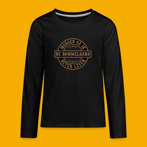 bb logo rond shirt - Teenager Premium shirt met lange mouwen