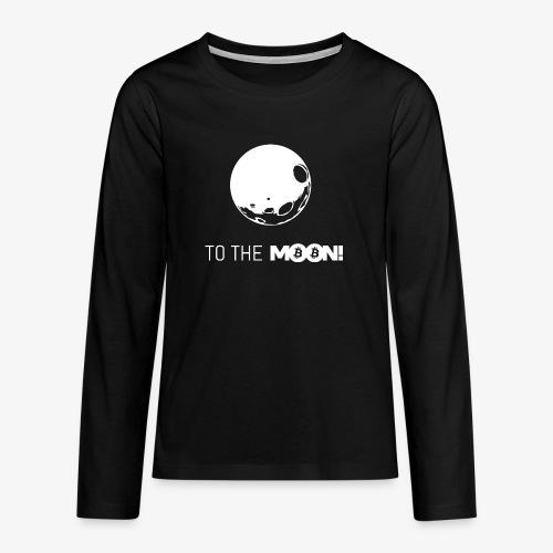 HODL-moonbtc-w - Teenagers' Premium Longsleeve Shirt