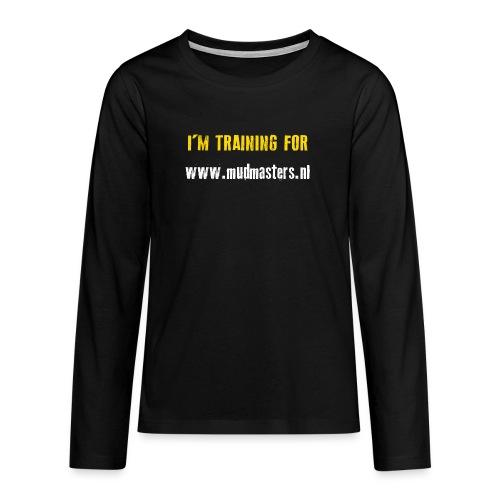 tshirt back - Teenager Premium shirt met lange mouwen