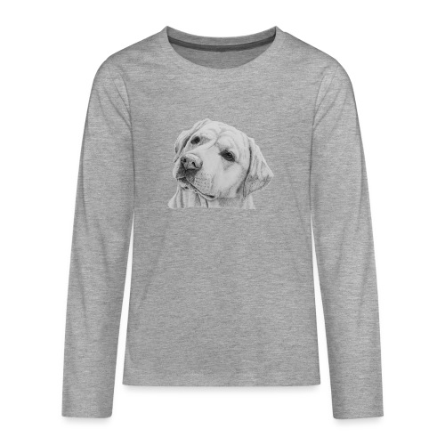 labrador retriever yellow - head - Teenager premium T-shirt med lange ærmer