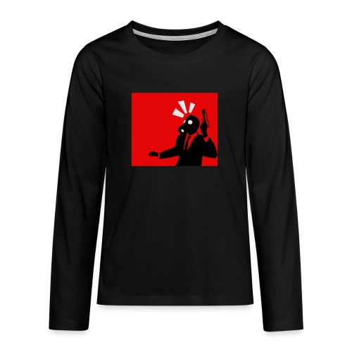 Gasmask - Teenagers' Premium Longsleeve Shirt