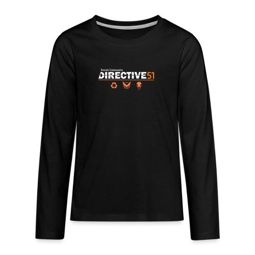 D51recy png - T-shirt manches longues Premium Ado