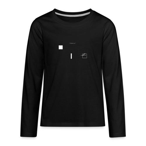 /obeserve/ sweater (M) - Premium langermet T-skjorte for tenåringer