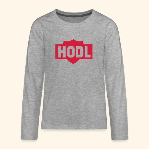 HODL TO THE MOON - Teinien premium pitkähihainen t-paita