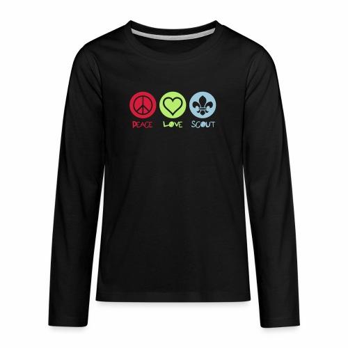Peace Love Scout - T-shirt manches longues Premium Ado